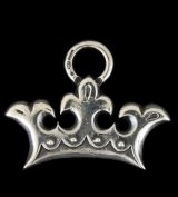 Large Crown Pendant With Quarter Loop