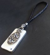Sculpted Oval With Crown & Lion Mobile Strap