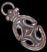 Large Sculpted Oval With Crown Pendant