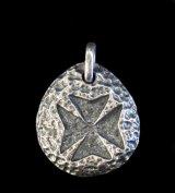 Maltese Cross Blob Pendant