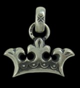 Large Crown With H.W.O  Pendant