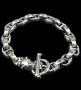 Quarter Old Bulldog With H.W.O & Chiseled Anchor Links Bracelet