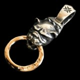 Old Bulldog With 10K Gold Ring Pendant