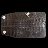 Crocodile Tail W-Spine(L) Long Wallet