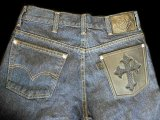 Gaboratory Reinforced Jeans with Stingray inlay Cow hide pocket