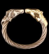Gold & Silver Stupid Horse Cable Wire Bangle