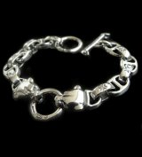 Quarter 2 panther with maltese cross H.W.O & smooth anchor chain bracelet