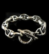 All Smooth Anchor Chain Links Bracelet
