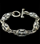 All Battle-Ax Oval Links Bracelet