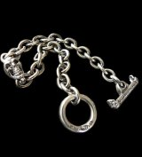 Quarter Skull On Half Chain Bracelet