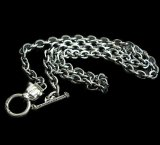 6Chain with 1/8 Panther & 1/8 T-bar Necklace