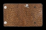 Unborn Calf Medium Leopard Long Wallet