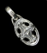Quarter Sculpted Oval With H.W.O Pendant