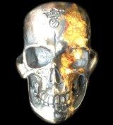 18K Gold Blood On Large Skull Ring Big Boy Ver.