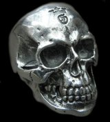 Large Skull Ring with Jaw