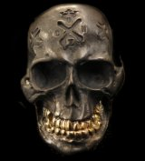 Xconz Collaboration 18k Gold Teeth Large Skull Ring