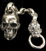 Large Skull With Half Snake & Maltese Cross H.W.O , Smooth Anchor Links Wallet Hanger