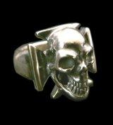 Skull Iron Cross Ring