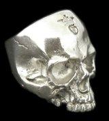 Large Skull Ring Without Jaw Platinum Finish