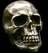 Large Skull With Jaw War Ring