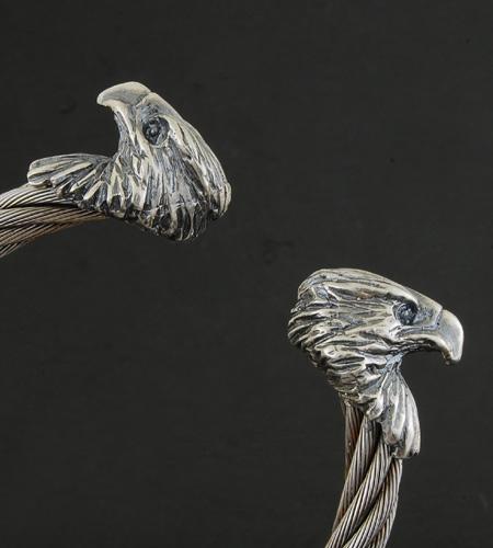 画像5: Eagle Cable Wire Bangle