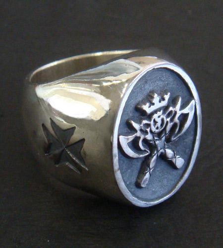 画像3: G&Crown Battle-Ax Ring