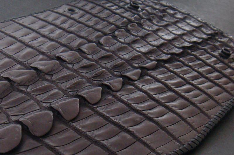 画像5: Crocodile Tail W-Spine(L) Long Wallet
