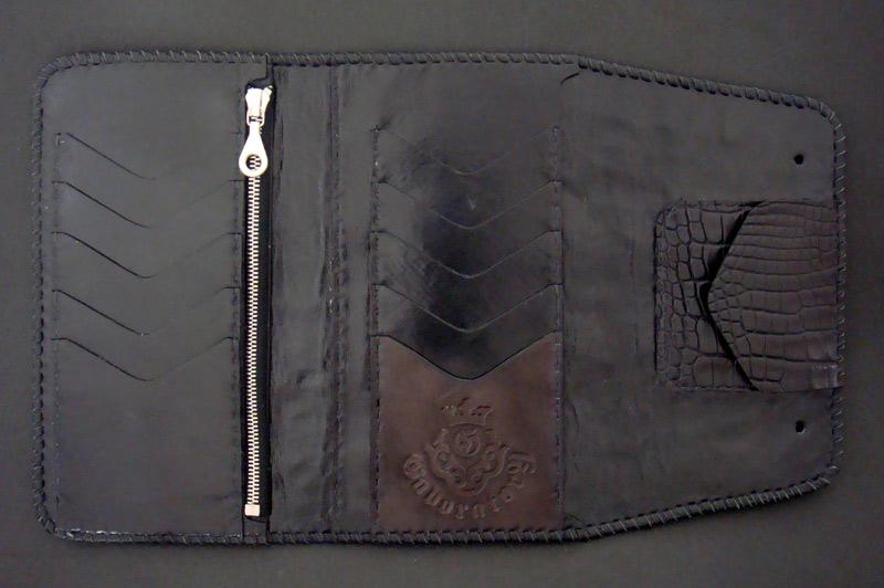 画像4: Crocodile Tail W-Spine(L) Long Wallet