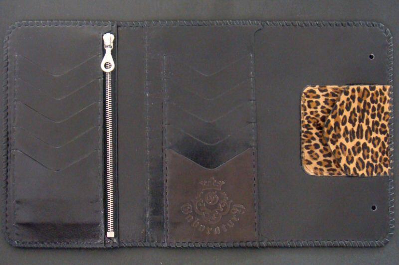 画像5: Unborn Calf Medium Leopard Long Wallet
