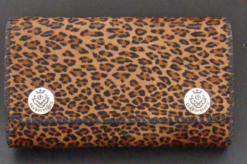 画像3: Unborn Calf Medium Leopard Long Wallet