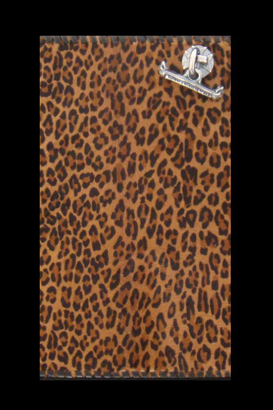 画像2: Unborn Calf Medium Leopard Long Wallet