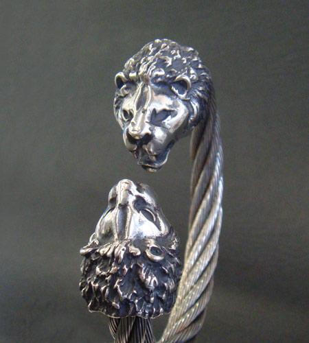 画像2: Lion Cable Wire Bangle