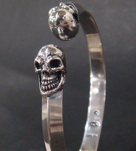 画像3: Half Skull Triangle Wire Bangle