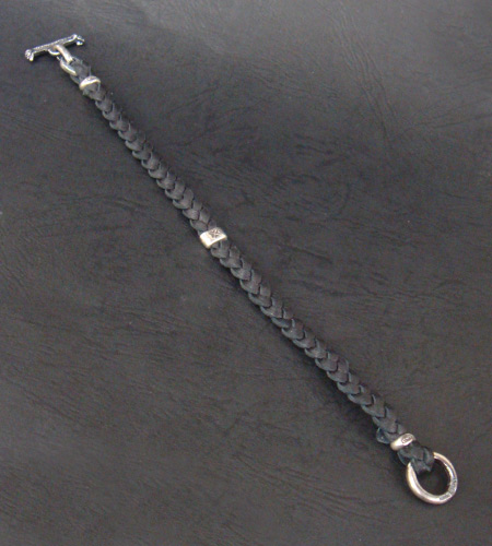 画像2: Quarter H.W.O braid leather bracelet