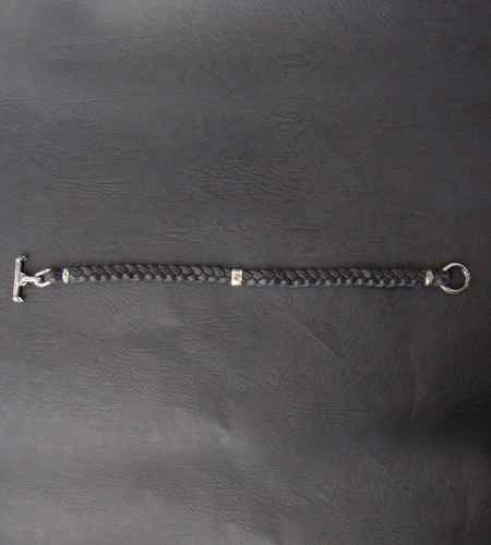 画像4: Quarter H.W.O braid leather bracelet