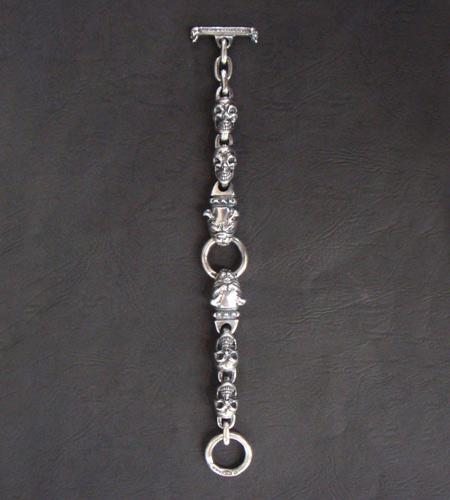 画像4: 2Bulldogs With 4Skulls Bracelet