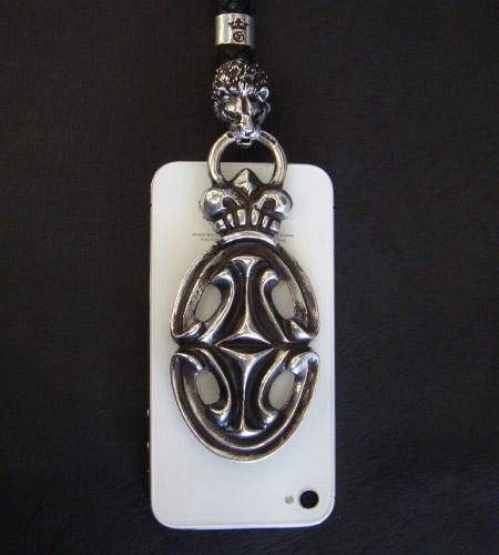 画像2: Sculpted Oval With Crown & Lion Mobile Strap