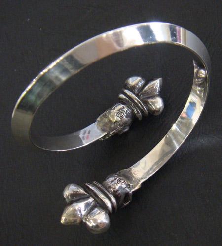 画像5: Crown Skull Triangle Bangle