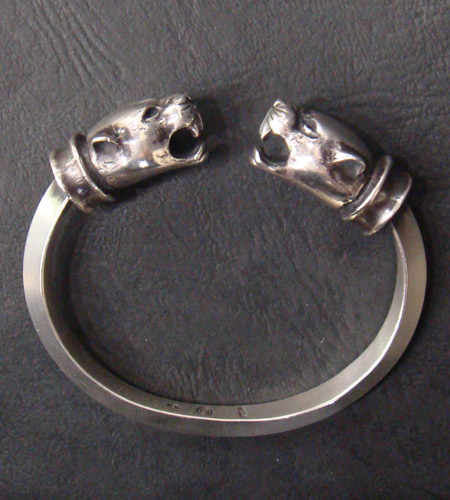 画像5: Panther With Bolo Neck Triangle Wire Bangle
