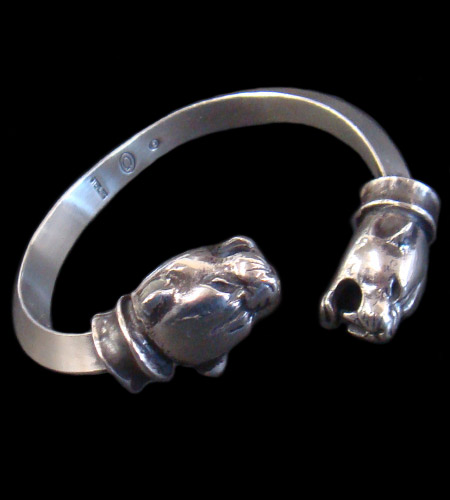 画像1: Panther With Bolo Neck Triangle Wire Bangle