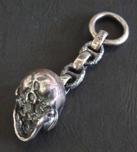 画像3: Half Large Skull Wallet Hanger