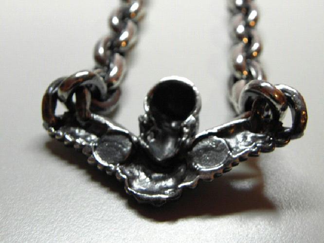 画像5: Wing Skull & Chain Links Necklace
