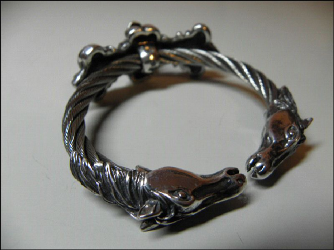 画像3: Skull On 4Heart Crown With Horse Wire Bangle