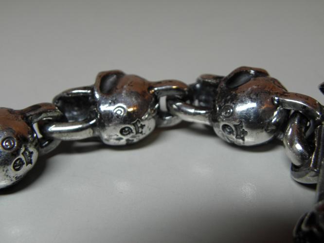 画像5: Skull On Snake With Skulls Links Bracelet