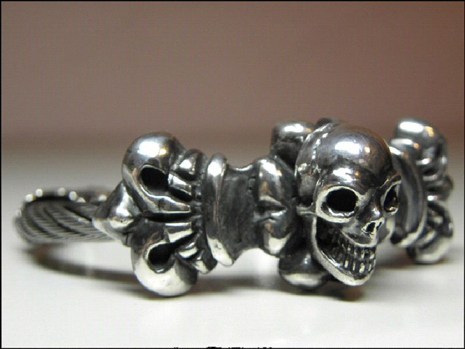 画像5: Skull On 4Heart Crown With Horse Wire Bangle