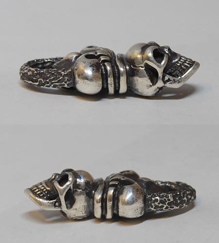 画像5: Skull Crown With Chiseled Loop Pendant