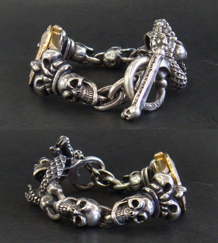 画像5: Skull Crown With Skull On Snake & Skull Watch Bands
