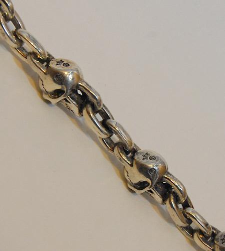 画像5: Slant Head Skull & Chain Link Bracelet