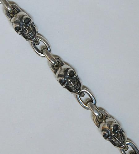 画像2: Skull & Chain Link Bracelet