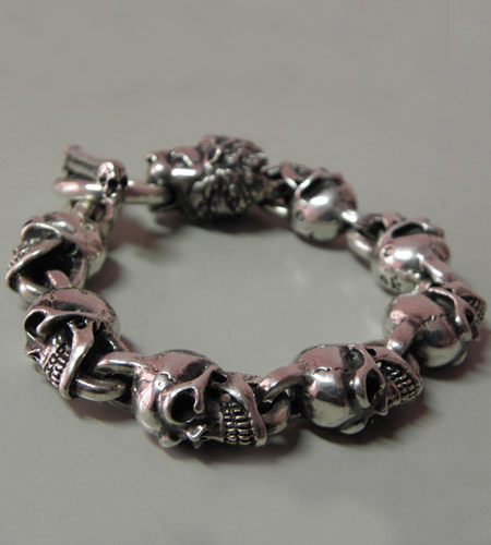 画像2: Lion With Skulls Links Bracelet